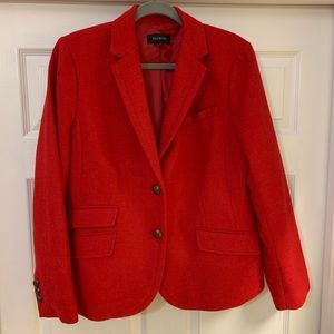 Talbots Red Wool Blazer